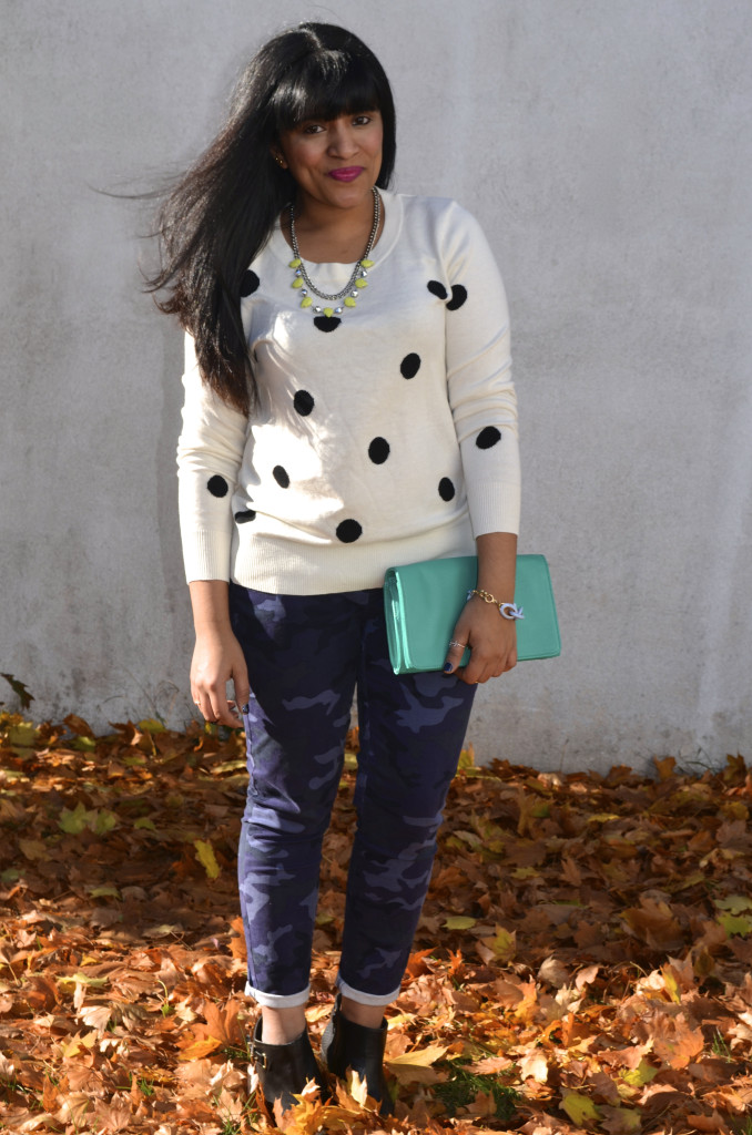Outfit: Polka Dot Sweater