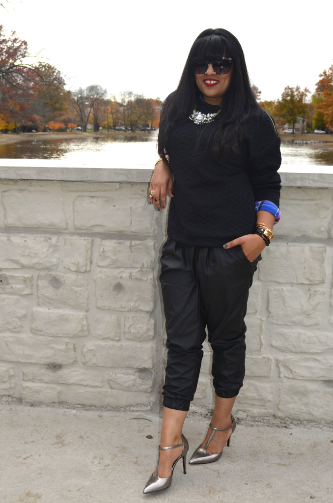 Outfit: Leather Joggers