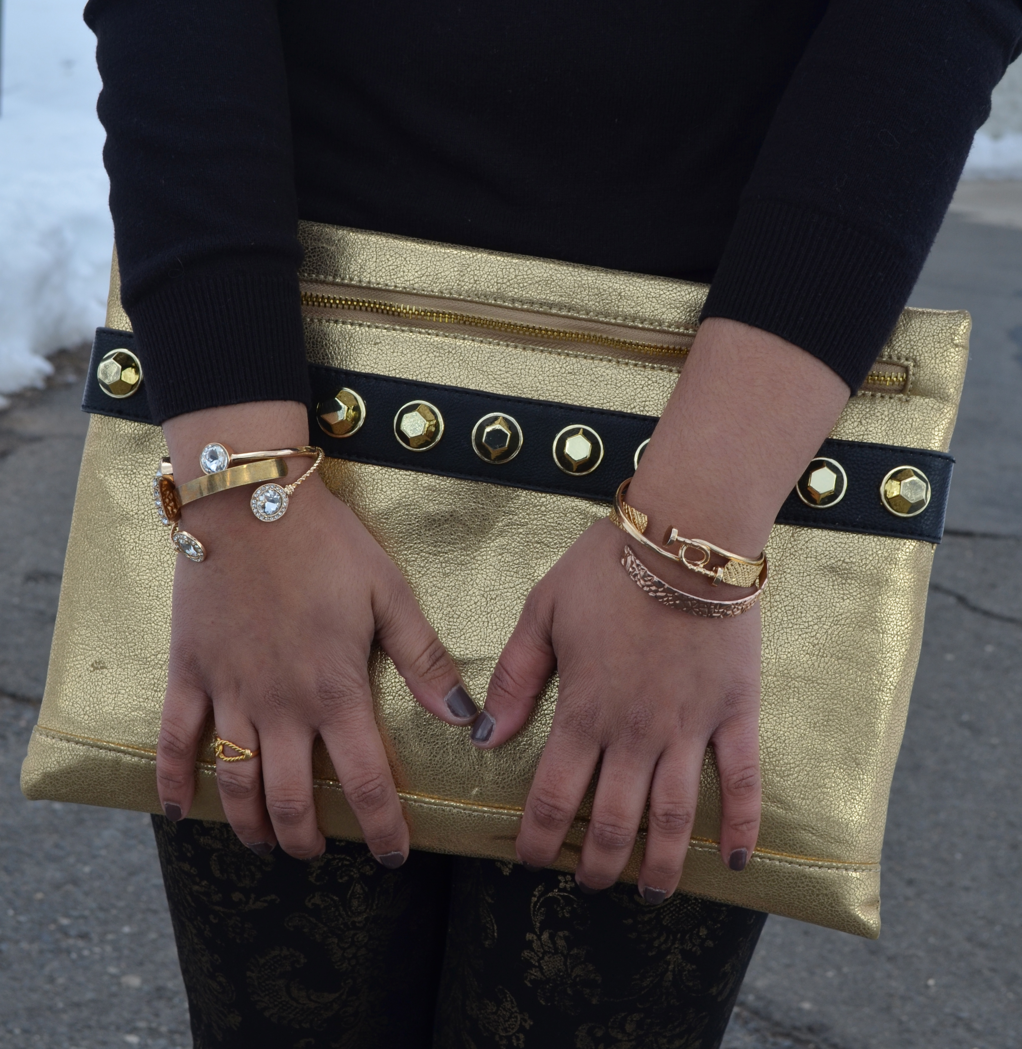 Gold Envelope Clutch