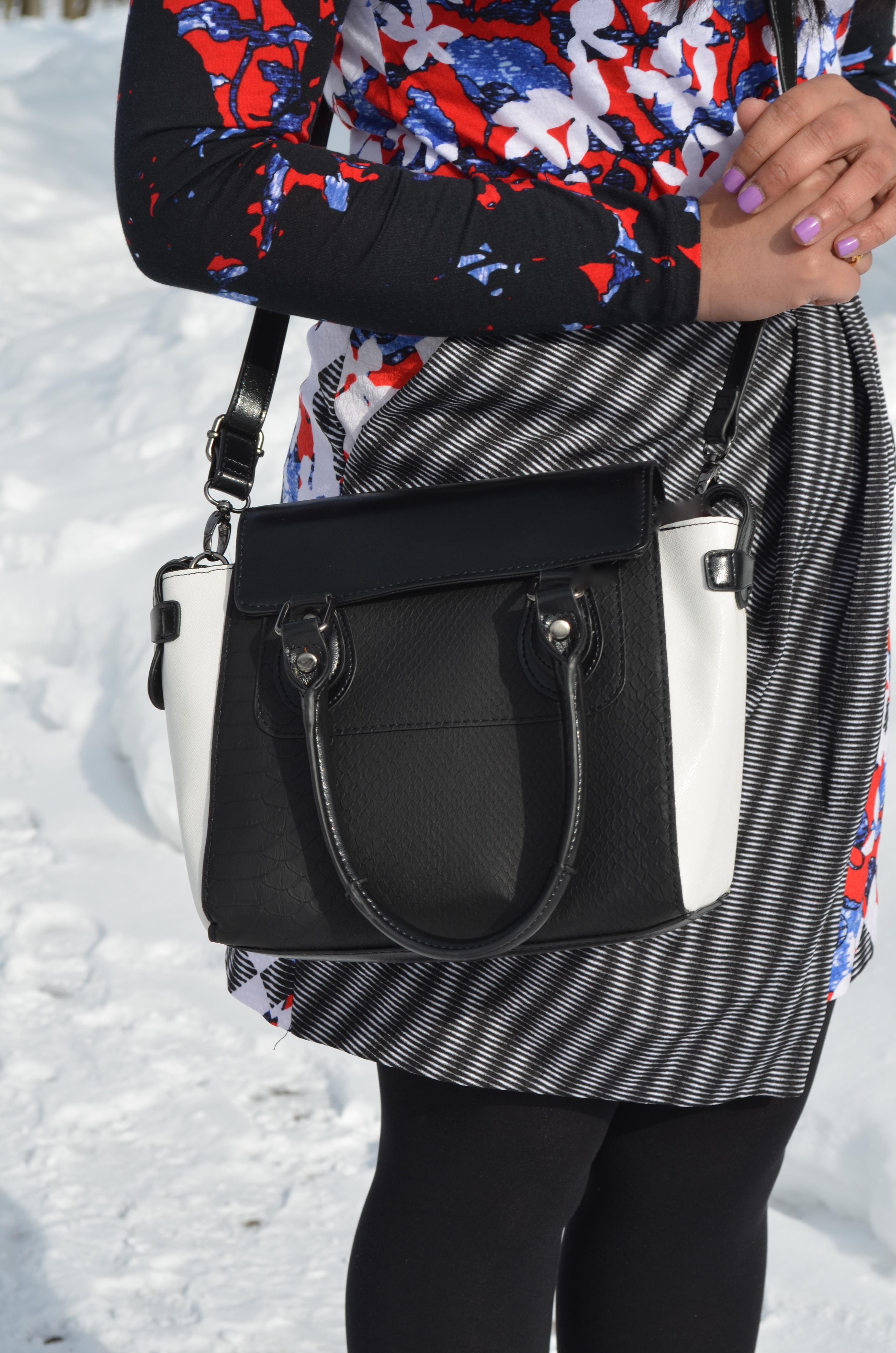 Black & White Crossbody Bag