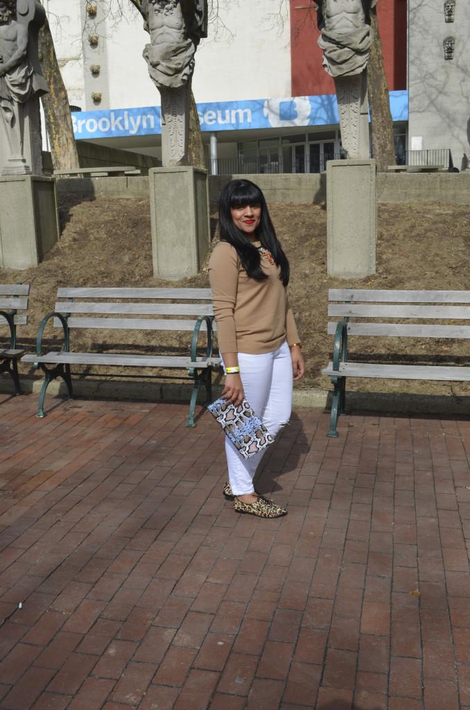 Outfit: White & Tan