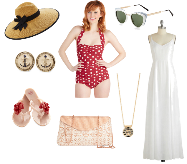 ModCloth Polka Dot Swim Suit
