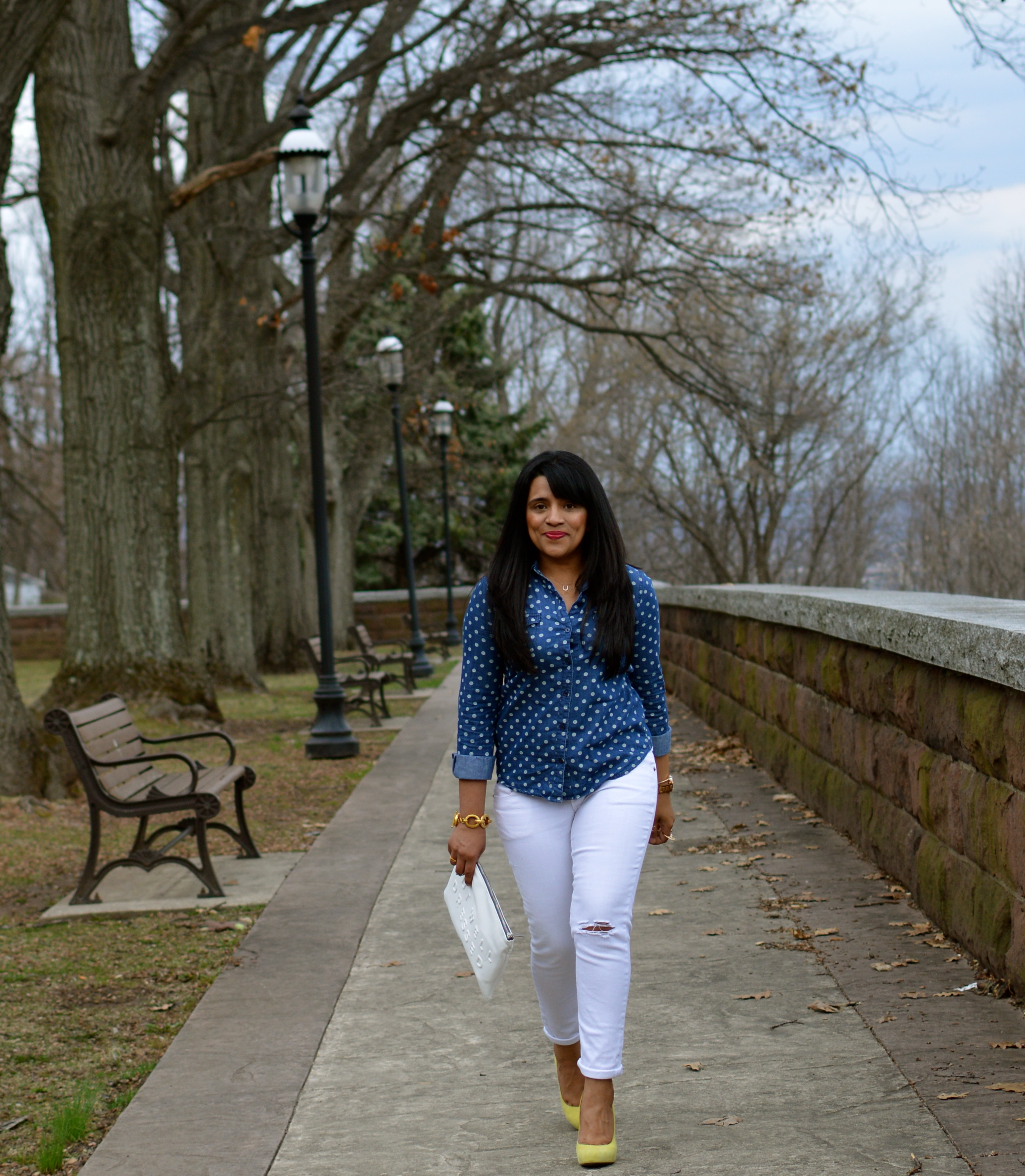 Chambray & White Outfit