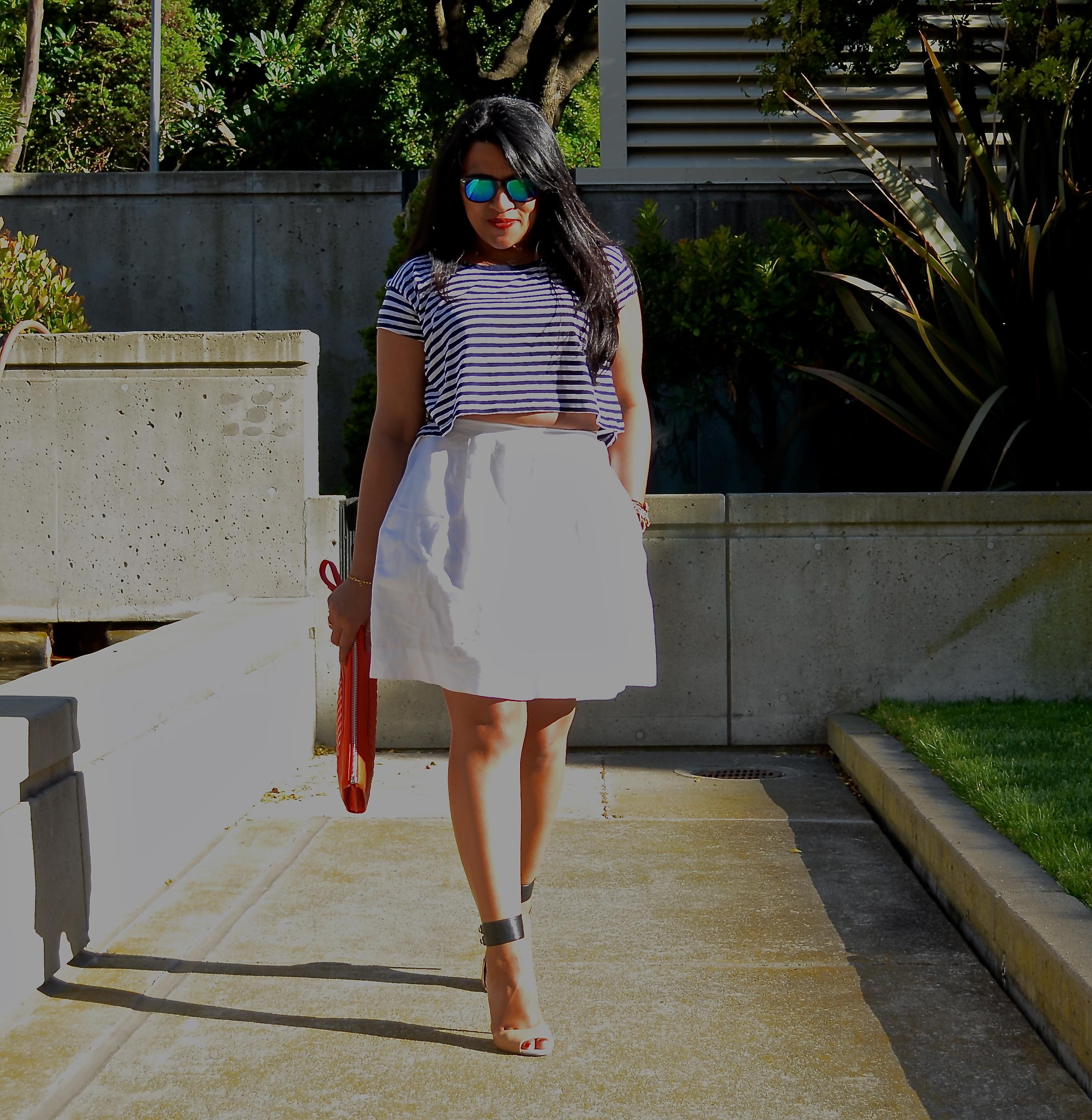 Gap White Linen Skirt