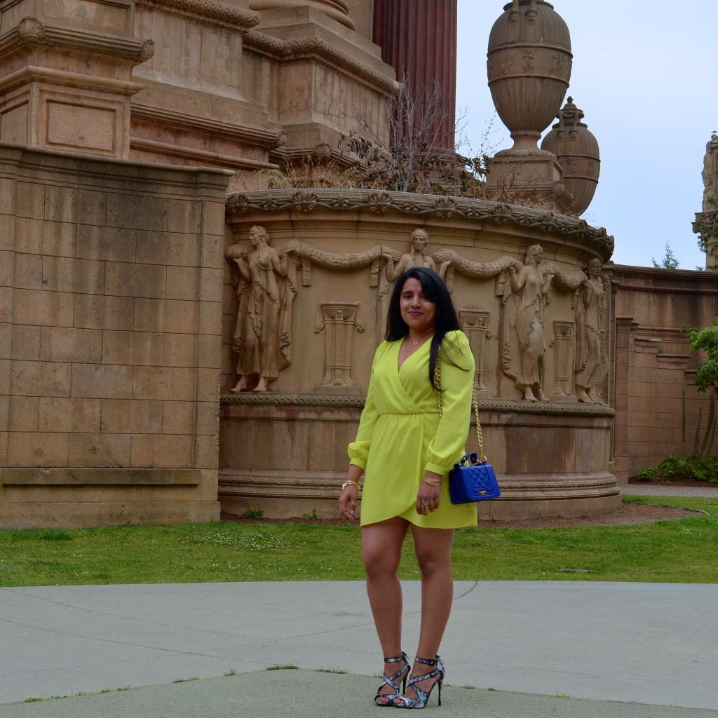 Neon Wrap Dress