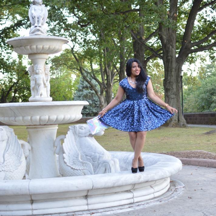 Sequin Skater Dress