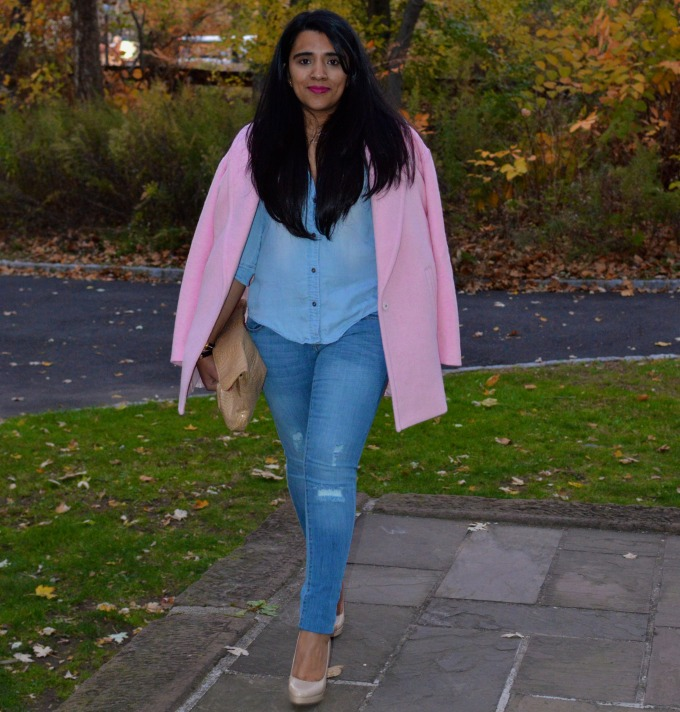 Kim Kardashian Inspired Denim Outfit