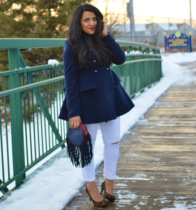 Peplum Coat Outfit