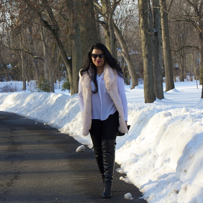 Fur vest outfit ideas