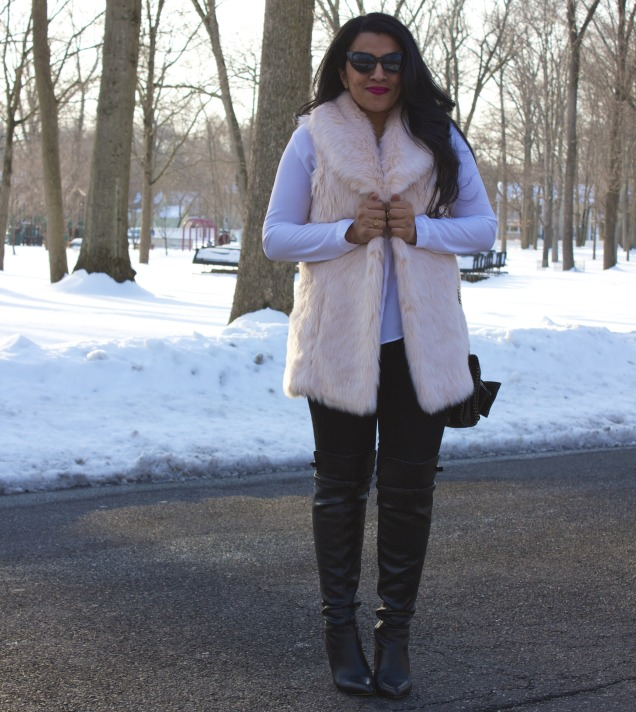How to wear fur vest