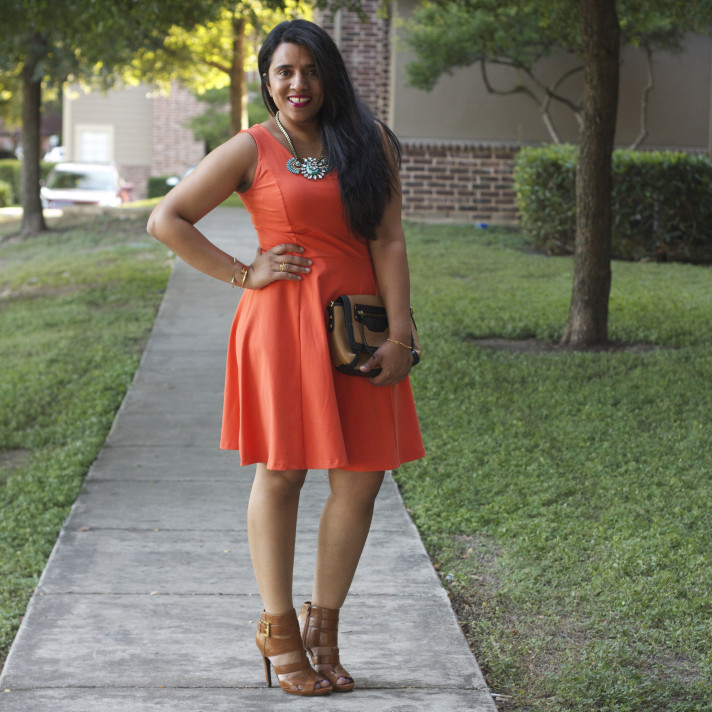 orange-dress-outfit-ideas