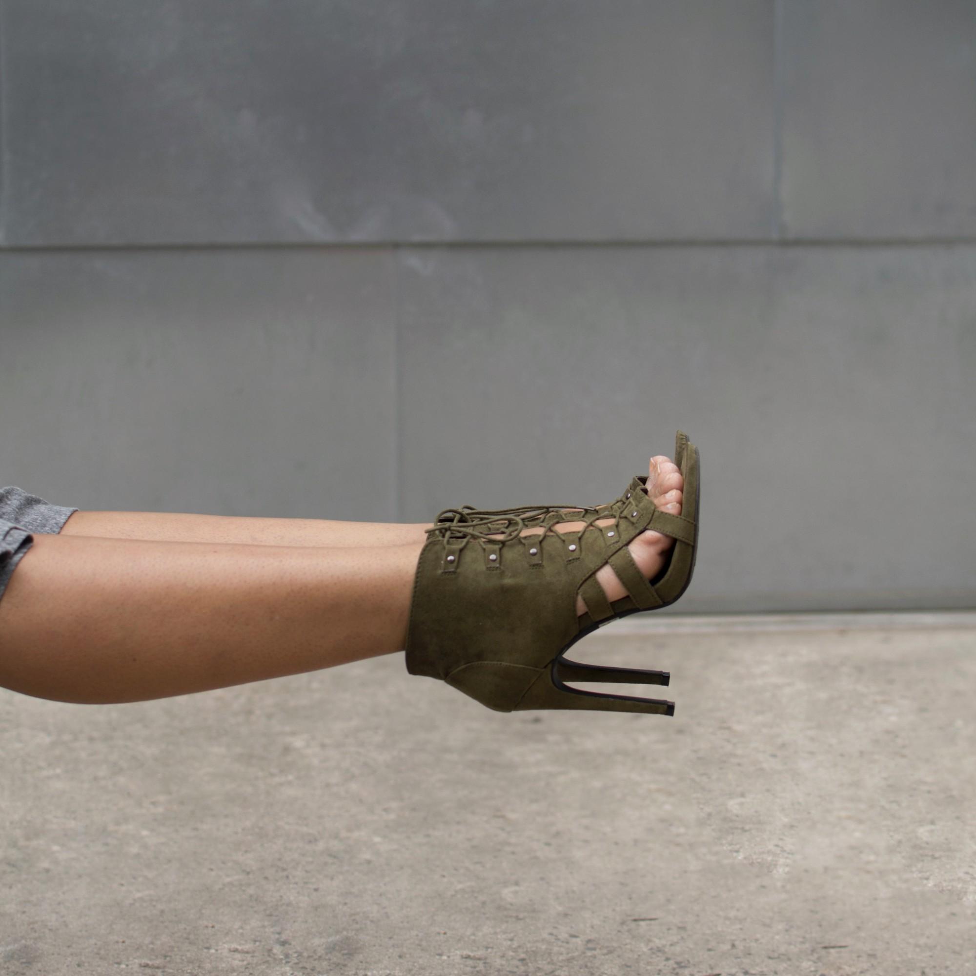 Khaki-Suede-Sandals