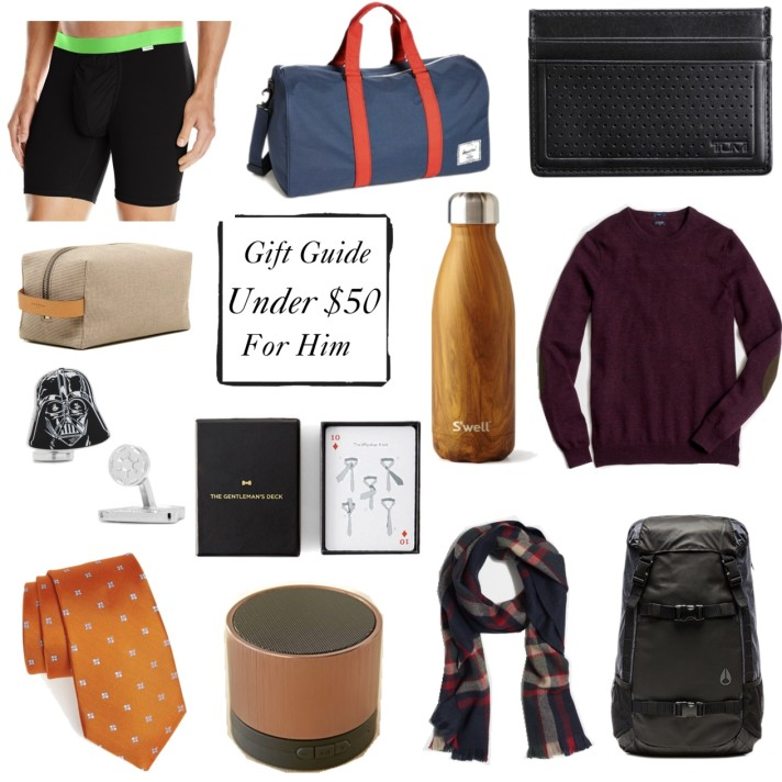 Christmas 2015 Gifts for Him – Under $50!