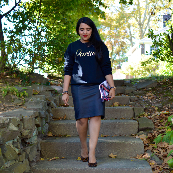 Kim Kardashian Leather Pencil Skirt