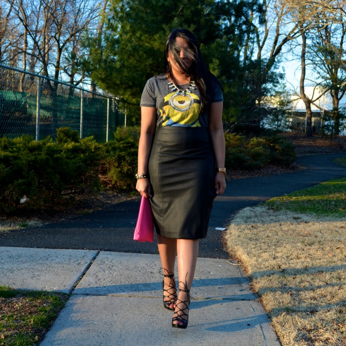 Leather Pencil Skirt Outfit